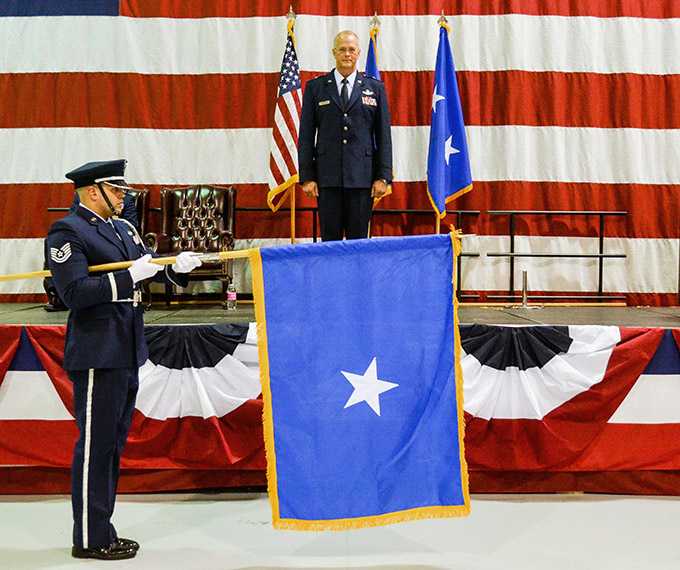 Dobbins wing commander pins on first star