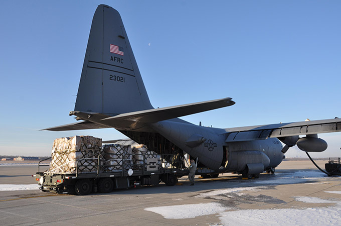 Niagara Airmen prep equipment bound for Dominican Republic