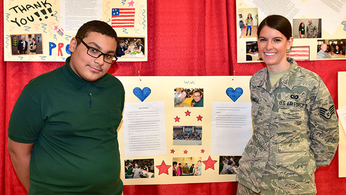 Students honor veterans with special luncheon