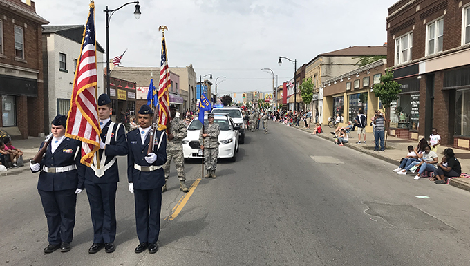 Base personnel participate in Memorial Day parade