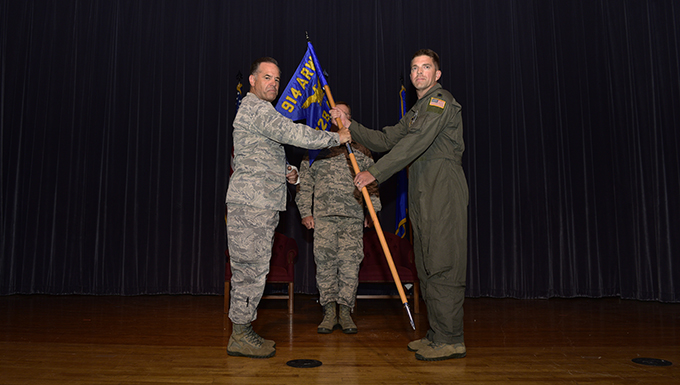 Lt. Col. Ryan G. Smith assumes command of 328th Air Refueling Squadron