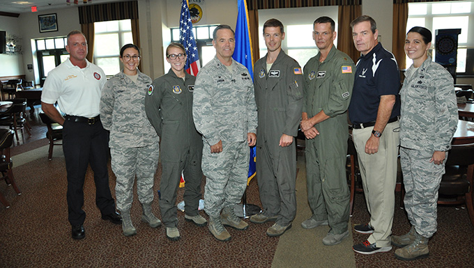 Air Show key staff presented with recognition coins