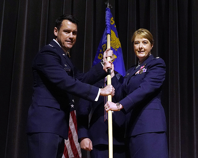 Lt. Col. Van Sickle assumes command of 914 AES